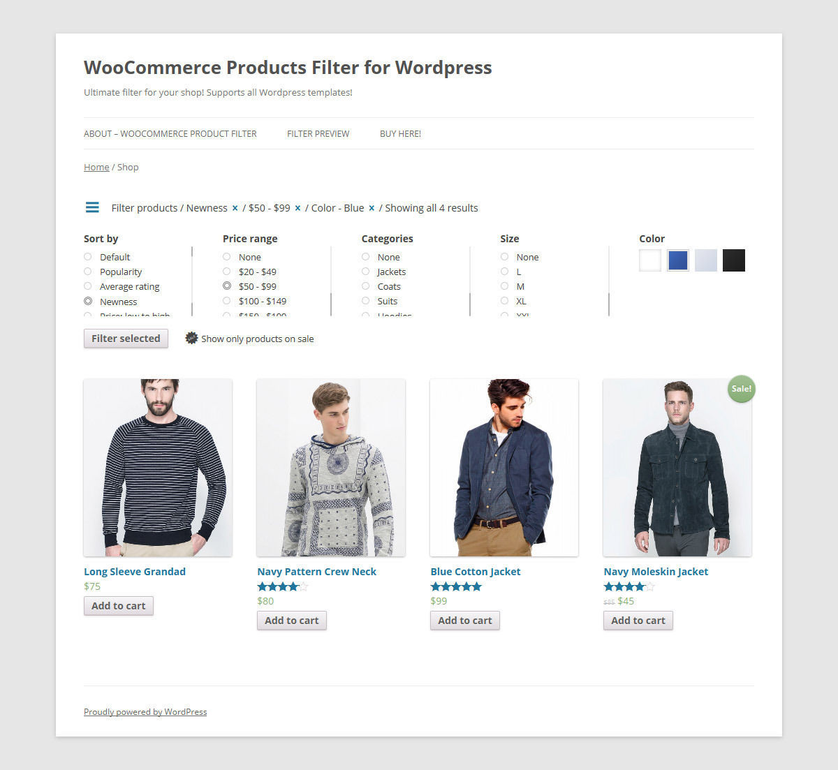 filtrar productos woocommerce