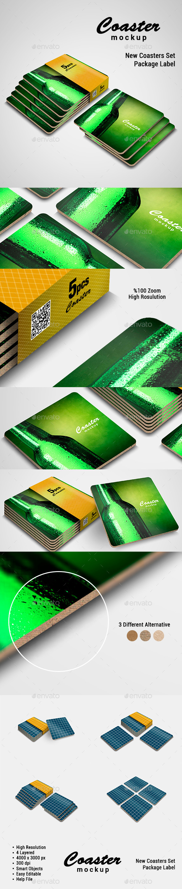 Coaster Mock-Up - Food and Drink Packaging