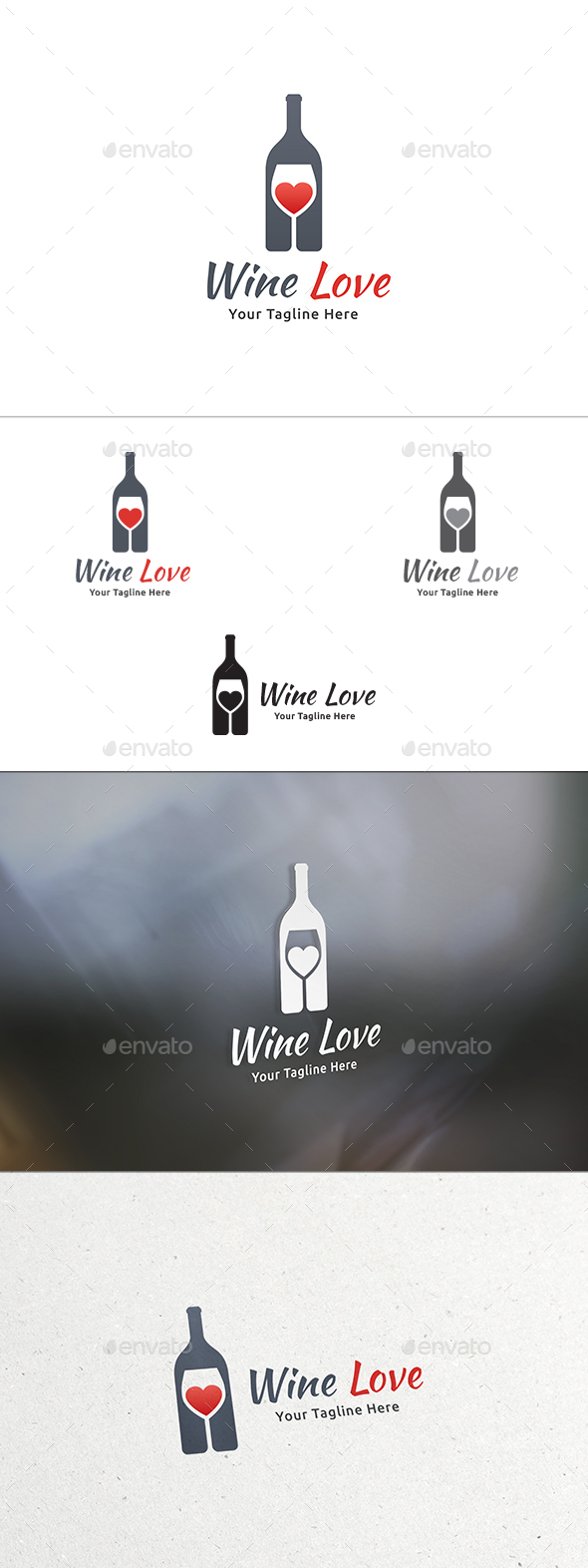 Wine Love Logo - Food Logo Templates