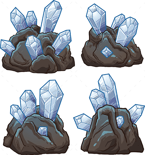 Cartoon Crystals - Organic Objects Objects