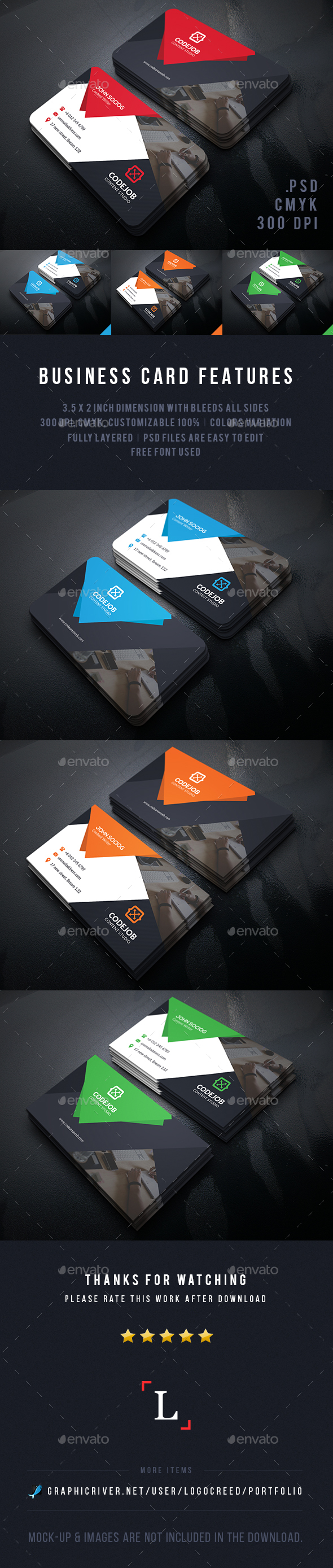 Creative Corporate Business Cards - Business Cards Print Templates