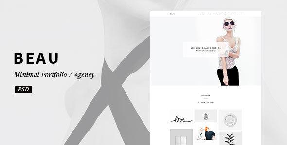 Beau – Minimal Portfolio / Agency PSD Template