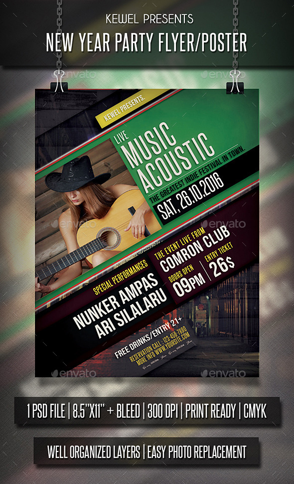 Live Music Acoustic flyer / templates - Events Flyers