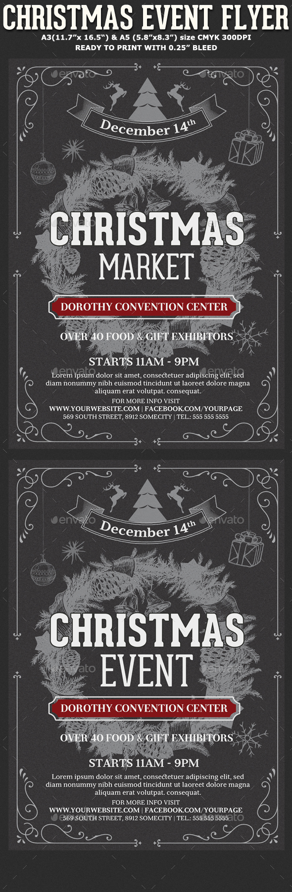 Christmas Event Flyer Template By Hotpin Graphicriver