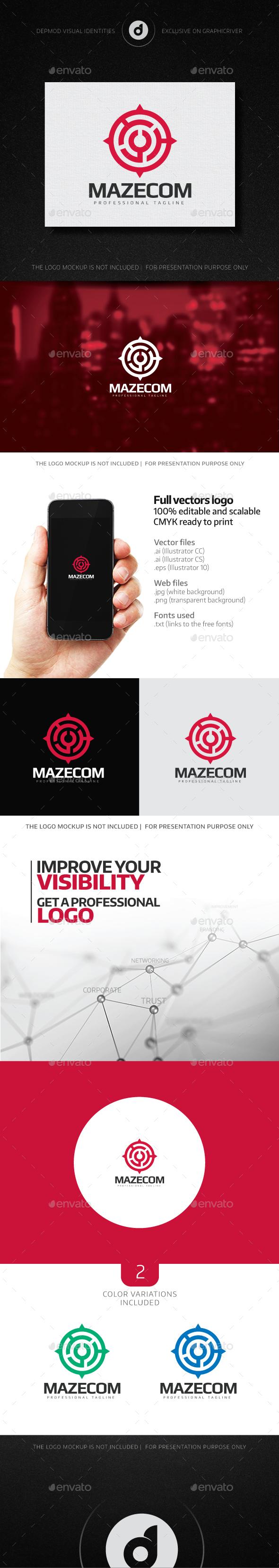 MazeCom Logo - Abstract Logo Templates