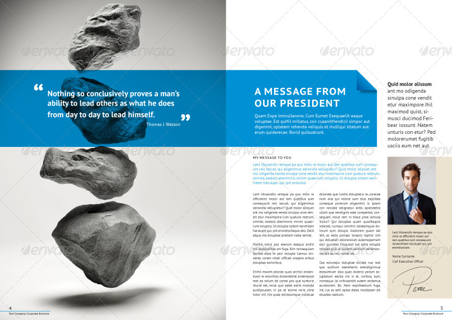 Professional Corporate Business Brochure By Genetic  Graphicriver