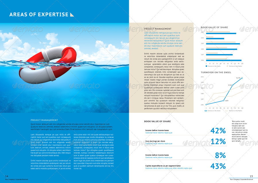 Professional Corporate Business Brochure By Genetic96 | Graphicriver
