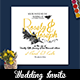Black And Yellow Wedding Invitation Suite - GraphicRiver Item for Sale
