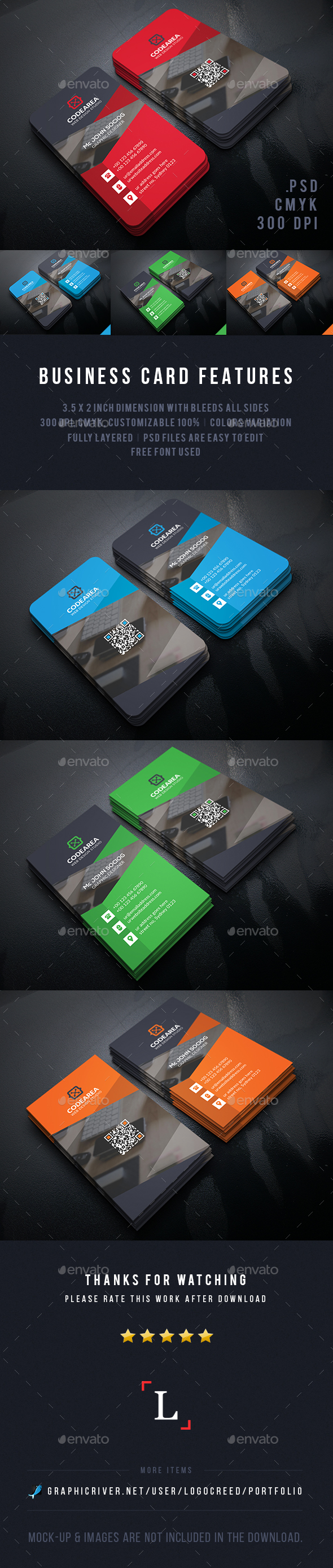 Shape Creative Business Cards - Business Cards Print Templates