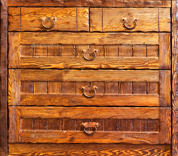Wooden vintage furniture - Stock Photo - Images
