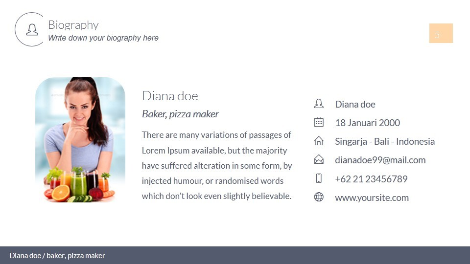 powerpoint biography template