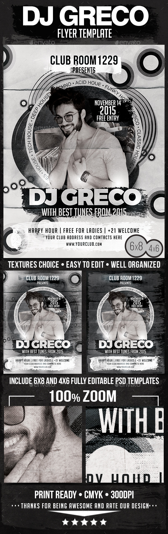Club Guest DJ Flyer Template - Clubs & Parties Events