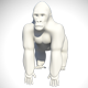 Low Poly Base Mesh Gorilla - 3DOcean Item for Sale