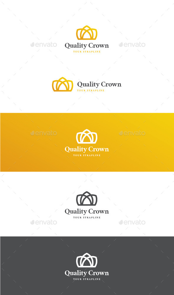 Quality Crown Logo - Objects Logo Templates