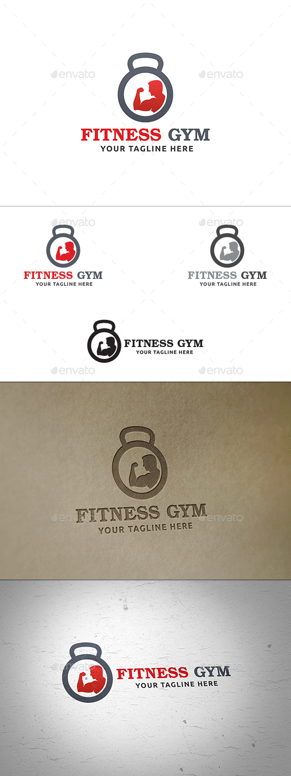 Fitness Gym Logo - Objects Logo Templates