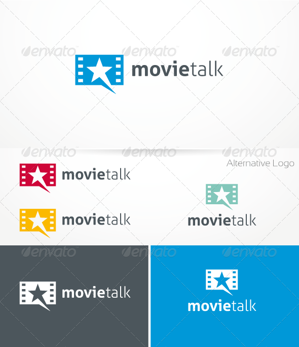 Movie Talk Logo Template - Symbols Logo Templates