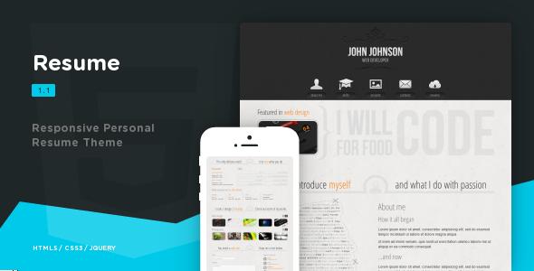 Resume - Responsive Personal Resume Theme - Portfolio Creative