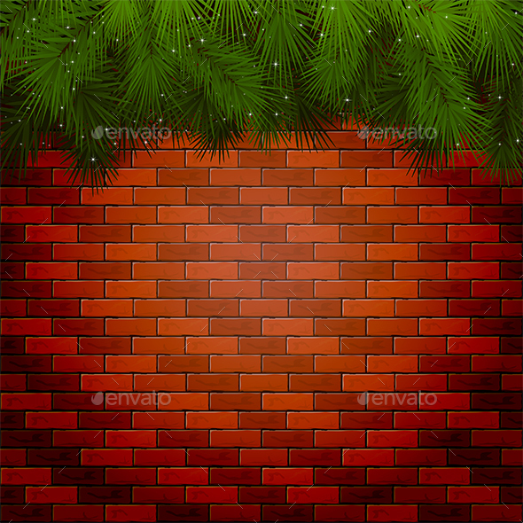 Christmas Background with Spruce Branches - Christmas Seasons/Holidays