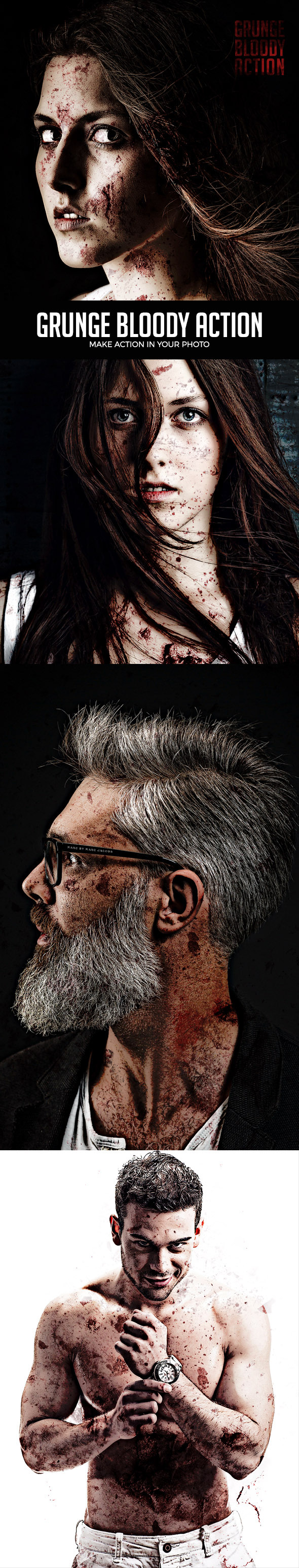 Grunge Bloody Photoshop Action - Photo Effects Actions