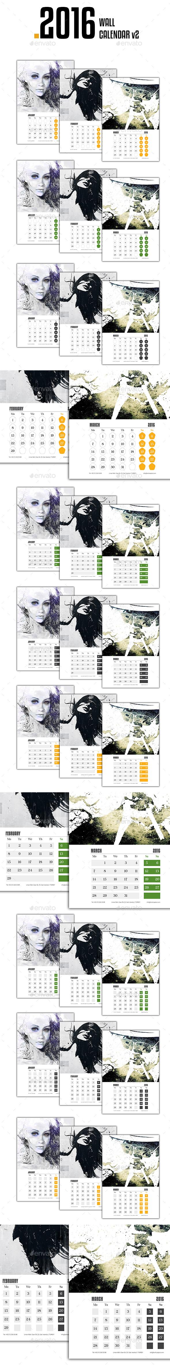 Wall Calendar 2016 v2 - Calendars Stationery