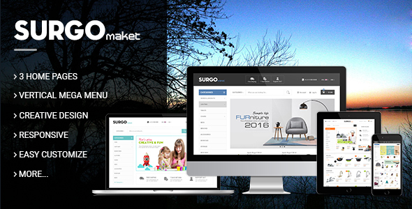 TV Surgo - Multipurpose Responsive Magento Theme