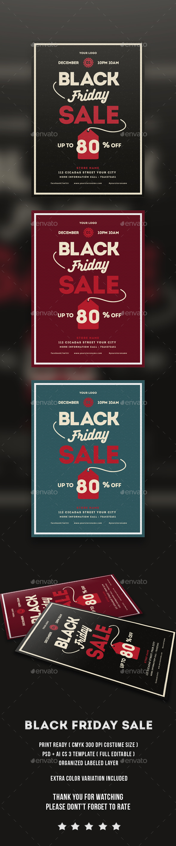 Black Friday sale flayer - Flyers Print Templates