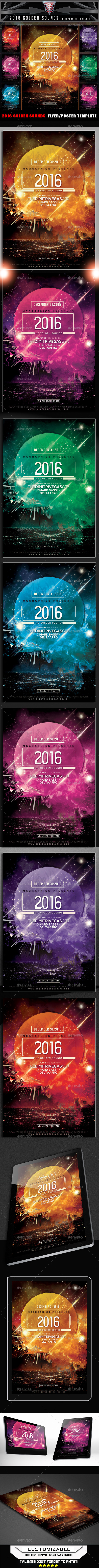 2016 The Golden Sounds Flyer Template - Flyers Print Templates