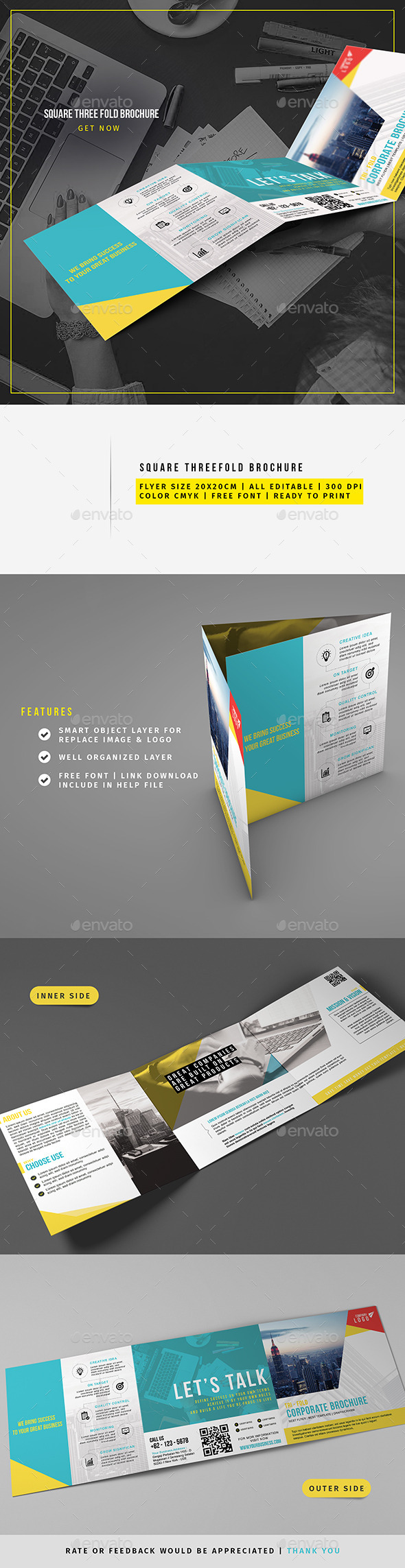 Corporate Square Trifold YA - Corporate Brochures