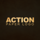 Action Paper Logo - VideoHive Item for Sale