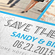 Fresh Save The Date Postcard / Card - GraphicRiver Item for Sale