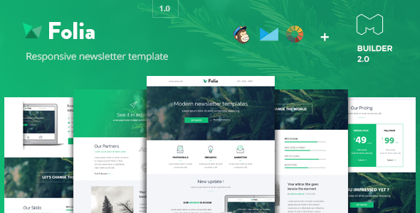 Folia – Modern Email Template + Builder 2.0