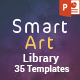 SmartArt Library PowerPoint Presentation Template - GraphicRiver Item for Sale