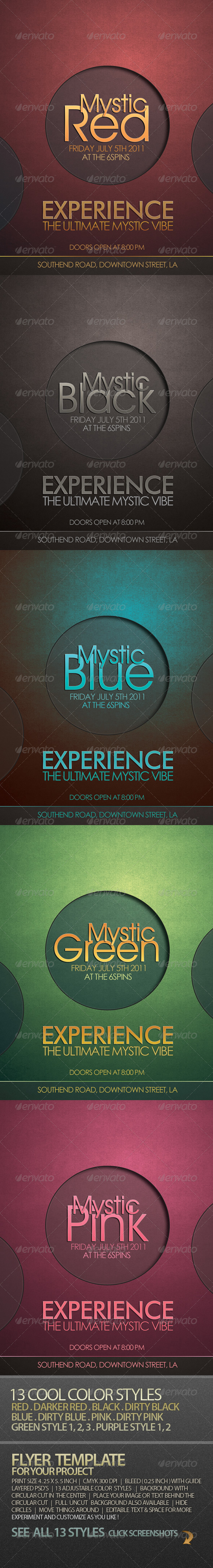 Mystic - Cool Flyer Template For Your Project - Clubs & Parties Events