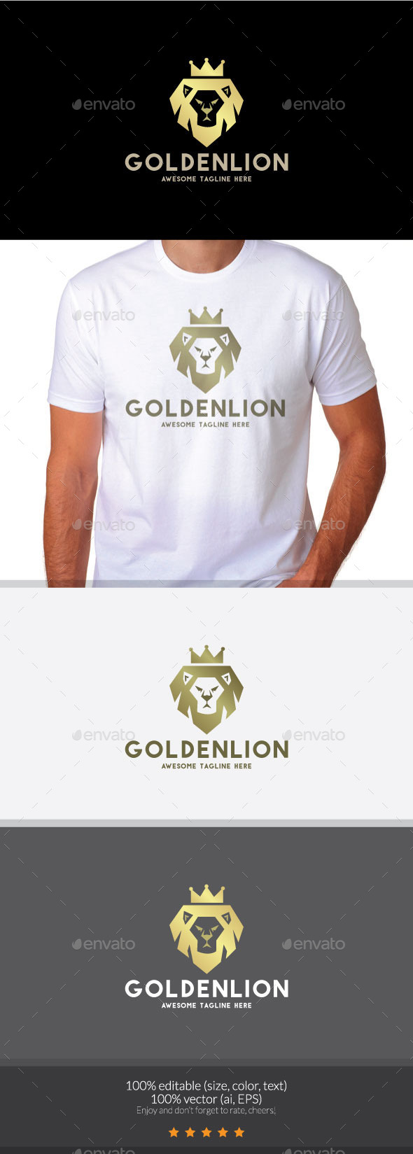 King Lion  - Animals Logo Templates