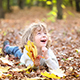 Child In Autumn - VideoHive Item for Sale