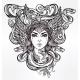 Mythological Medusa Portriat Illustration. - GraphicRiver Item for Sale