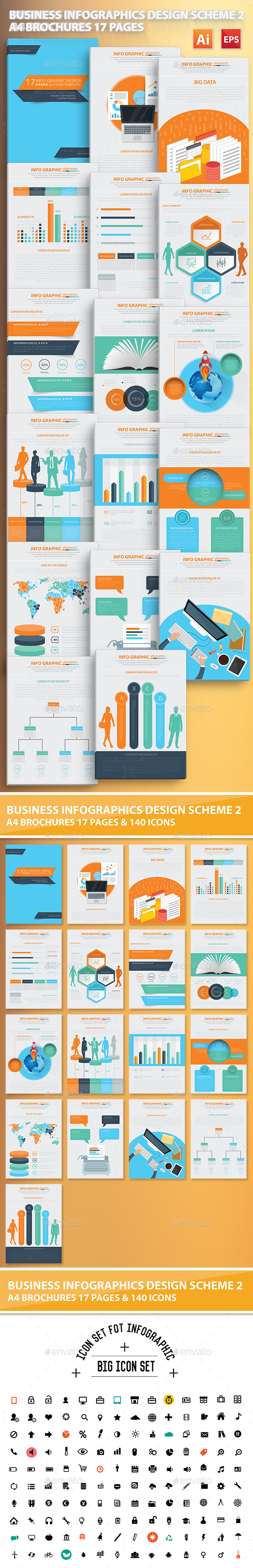 Business Infographic Elements Design Scheme 2 - Infographics