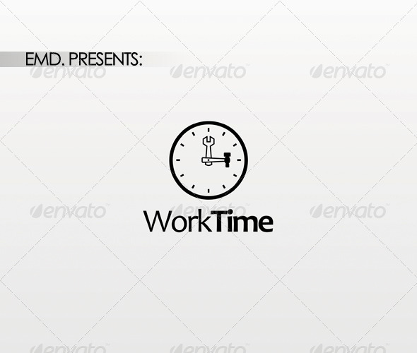Work Time Logo - Symbols Logo Templates