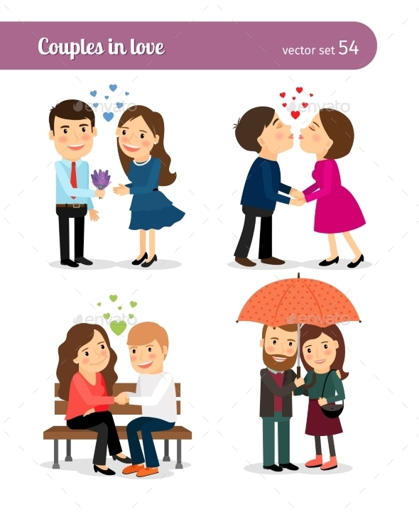 Couple In Love First Date - People Characters