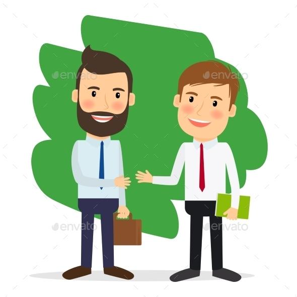 Businessmen Shaking Hands - Concepts Business