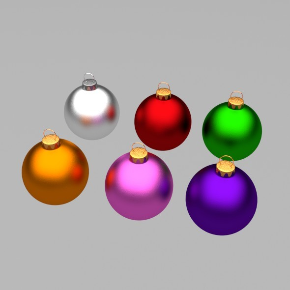 Christmas Tree Balls - 3DOcean Item for Sale