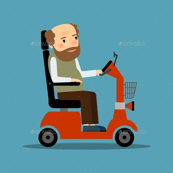 Man in Wheelchair - Health/Medicine Conceptual