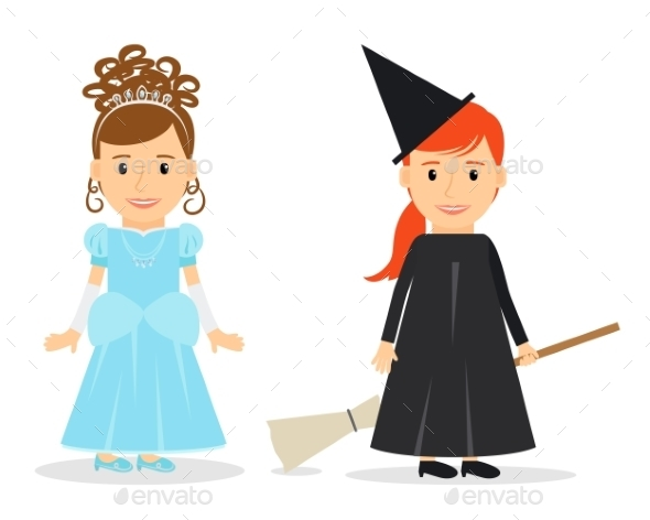 Little Princess and Witch - Birthdays Seasons/Holidays