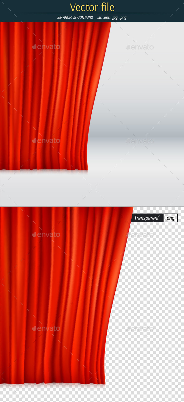 Red Velvet Curtain - Backgrounds Decorative