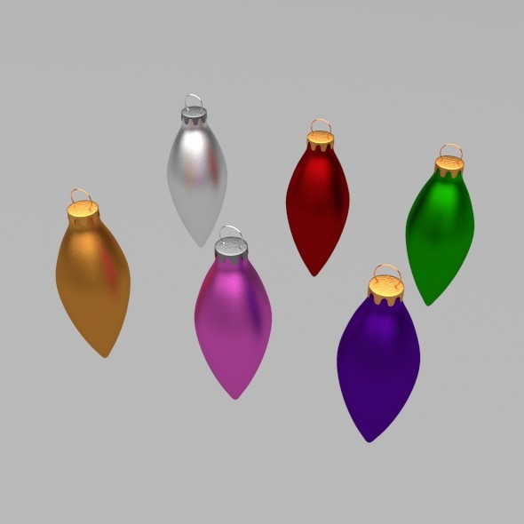 Christmas Tree Drops - 3DOcean Item for Sale