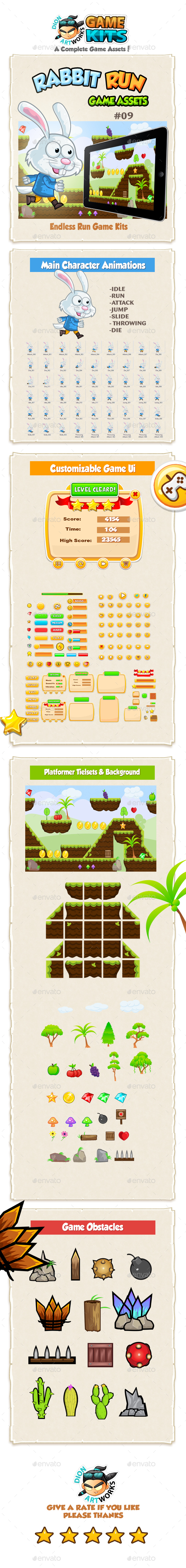 Rabbit Run Game Assets-09 - Game Kits Game Assets