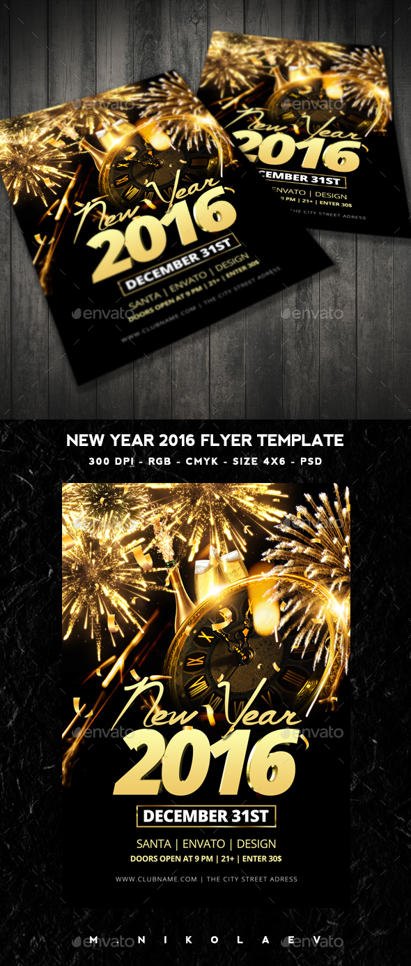 New Year 2016 Flyer - Clubs & Parties Events