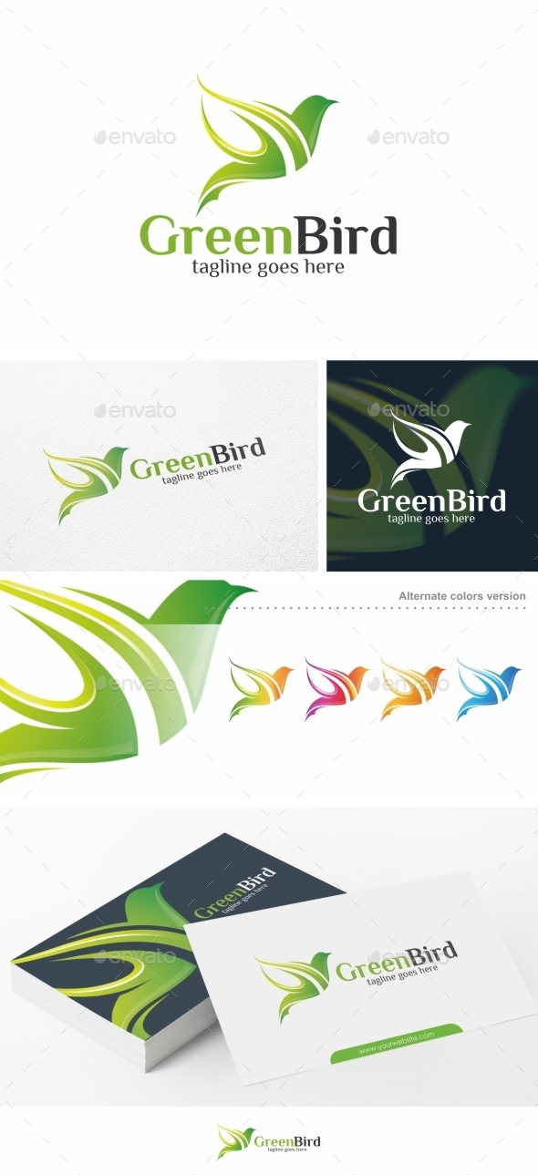 Green Bird - Logo Template - Animals Logo Templates