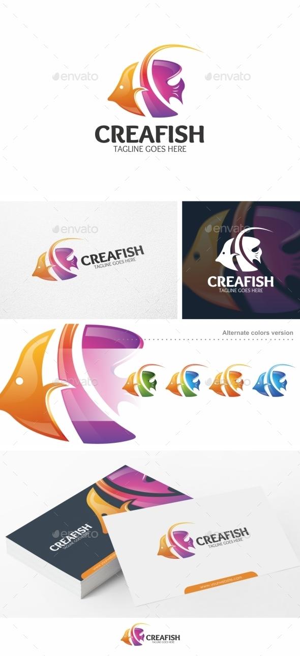 Creafish / Fish - Logo Template - Animals Logo Templates