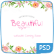 Beautiful - A Hand painted Watercolor PSD - ThemeForest Item for Sale